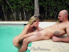 Kinky Cory Chase begs for after pool anal