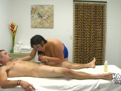 Kinky hidden camera massage bed sex