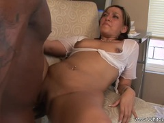 Anal BBC Action for pigtailed brunette
