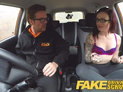 Fake Driving School Teen Creampied in car