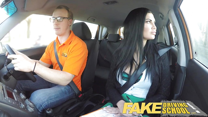 Fake Driving School Learner fucks hot female examiner