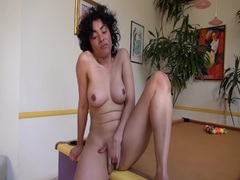 Maya Morena strokes her horny pussy and squirts