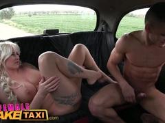 Female Fake Taxi Big tits blonde fucks her hot passenger