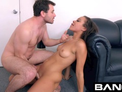 Bang Casting: Adrian Maya Gets A Rough Throat Fuck