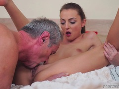 Katy Rose riding on a big cock