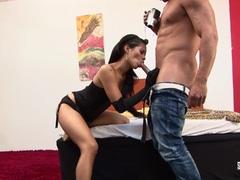 SANTA LATINA Sexy Latina babe gets nailed