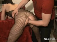 Hot fisting his GFs greedy ass and pussy