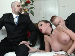 Exotic Swinger Wife Fucks Another Man Watched by Hubby