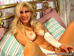 Masturbation with Horny Blonde Housewife With Dildo