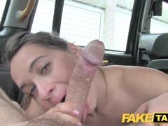 Horny Euro girl fucked with rock hard cock facial