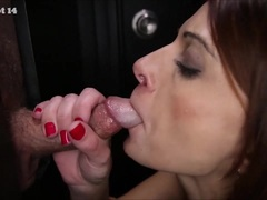 Chicks that love strangers dicks in the gloryhole