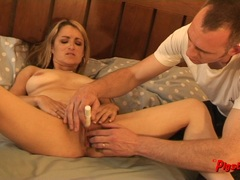 Sexy Natural Sex Wife Orgasms and Creampie