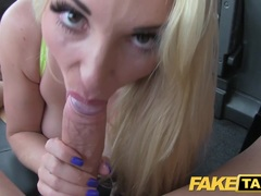 Taxi driver gives local hot blonde anal sex