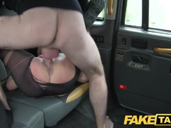 Kinky local escort fucks taxi man