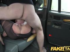 Kinky local escort fucks taxi man