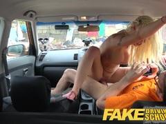 Stunning blonde gets deep creampie
