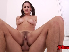 Brunette Ashley Adams Gets Her Tight Pussy Stretched