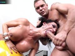 Franceska Jaimes has a wild squirting orgasm