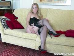 Sexy tease vintage lingerie nylon strips panties wank