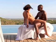 Ebony Couple Experiences Freedom Fucking