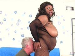 Chubby Alena Lust takes thick white cock