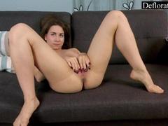 sexy-naked-exgirlfriend-defloration-masterbating