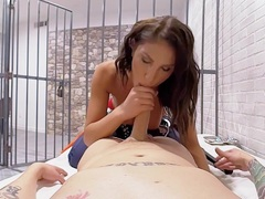 VR PORN August Ames Get fucked hard in prison