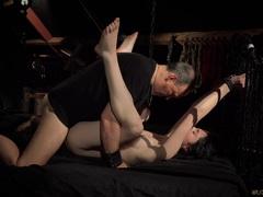 Naughty Teen in Hard BDSM punishment naughty behavior