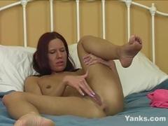 Kinky Redhead Misty Haze Fingers Her Pussy