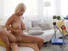 Cute Brigette B MILF fucking the pool boy