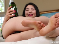 Nari Park Foot Fetish Champagne Covered Toes
