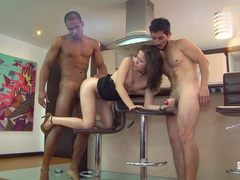 SANTA LATINA MMF threesome with Colombian honey