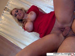 Hot Julia's husband watch her getting pounded by other men