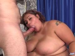 Big girl naked and taking cock