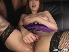 Sexy Asian sexy lingerie during the slippery masturbation