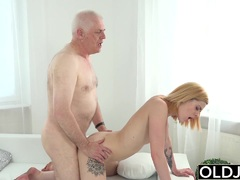 Mature Nick Licks Teen Pussy and Sticks His Old Man dick Teen