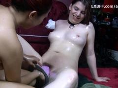 hot Hairy white girl wet pussy fem domination Asian lesbian