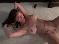 Hot mature lady masturbating