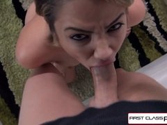 Hottie Alix Lovell suck a big dick in POV style