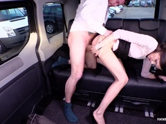 Sexy car sex with sweet Audrey Jane