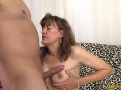 Old woman Babe Morgan getting her pussy fucked