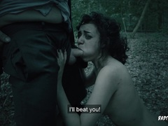 Hot Halloween babe BDSM dominated