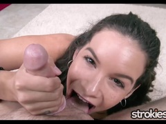Cute Eden Sinn Double Fisted Handjob