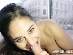 Babe Cathy Heaven Squirts All Over our Sex Truck