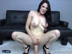 Samantha Bentley takes on huge dildos