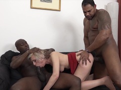Kinky Mature Gets Black Cocks In Pussy And Mouth Likes Rough
