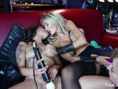 Sexy lesbian threesome