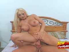 Cute Blonde Busty Wife Carson On Top