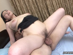 Cute Asian wife got her hairy pussy drilled after a 69