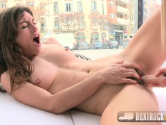 Cute Julia Roco and Sicilia Play with a Dildo